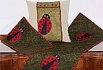 Machine Embroidery Home Series #4 Lady Bugs